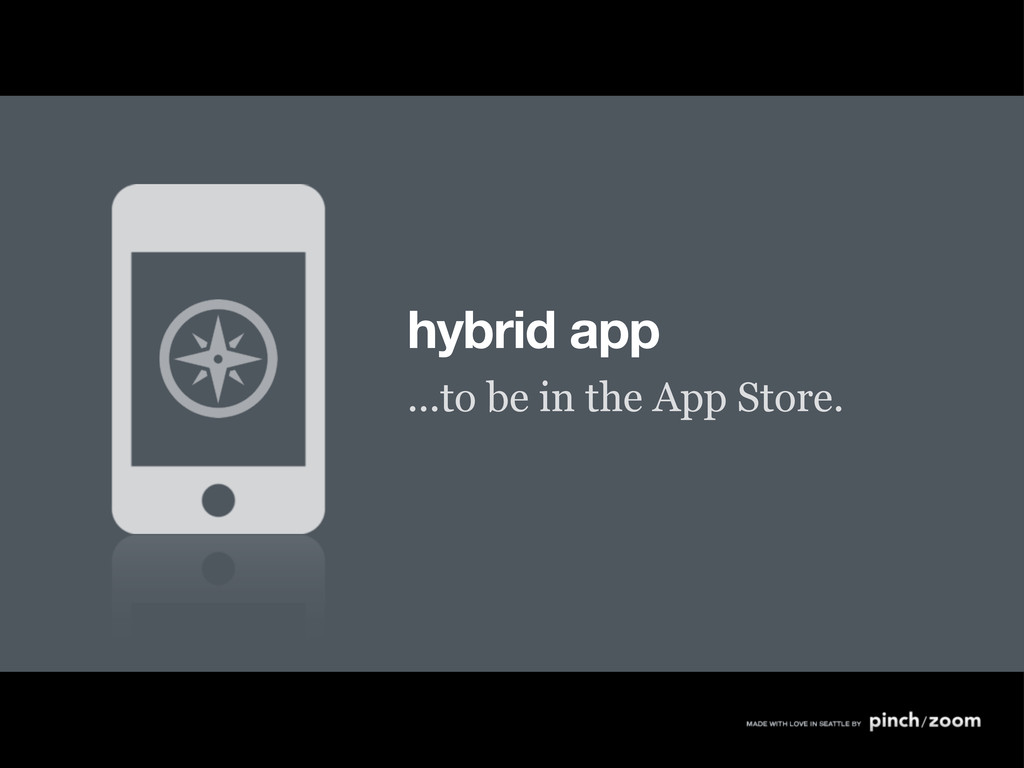 hybrid app ...to be in the App Store.