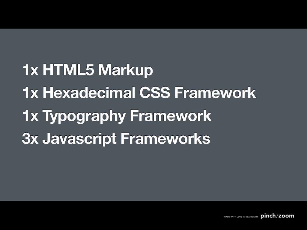 1x HTML5 Markup 1x Hexadecimal CSS Framework 1x...
