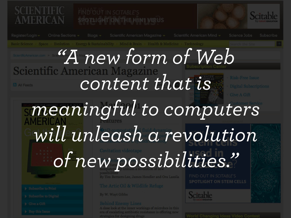 """""""A new form of Web content that is meaningful t..."""
