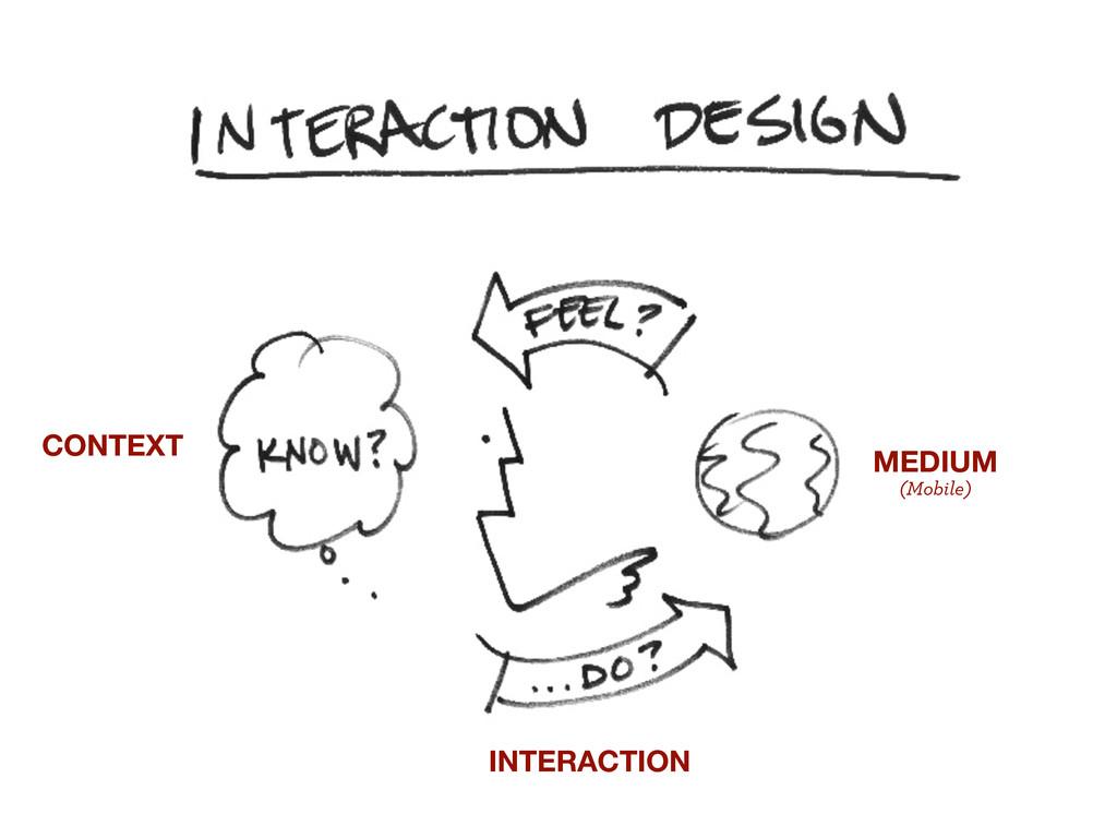 CONTEXT MEDIUM (Mobile) INTERACTION