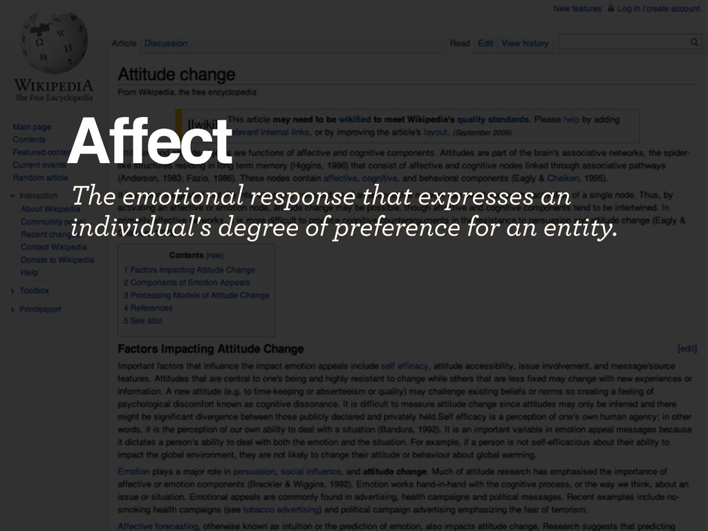 Affect The emotional response that expresses an...