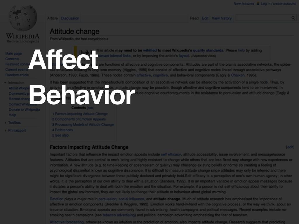 Affect Behavior