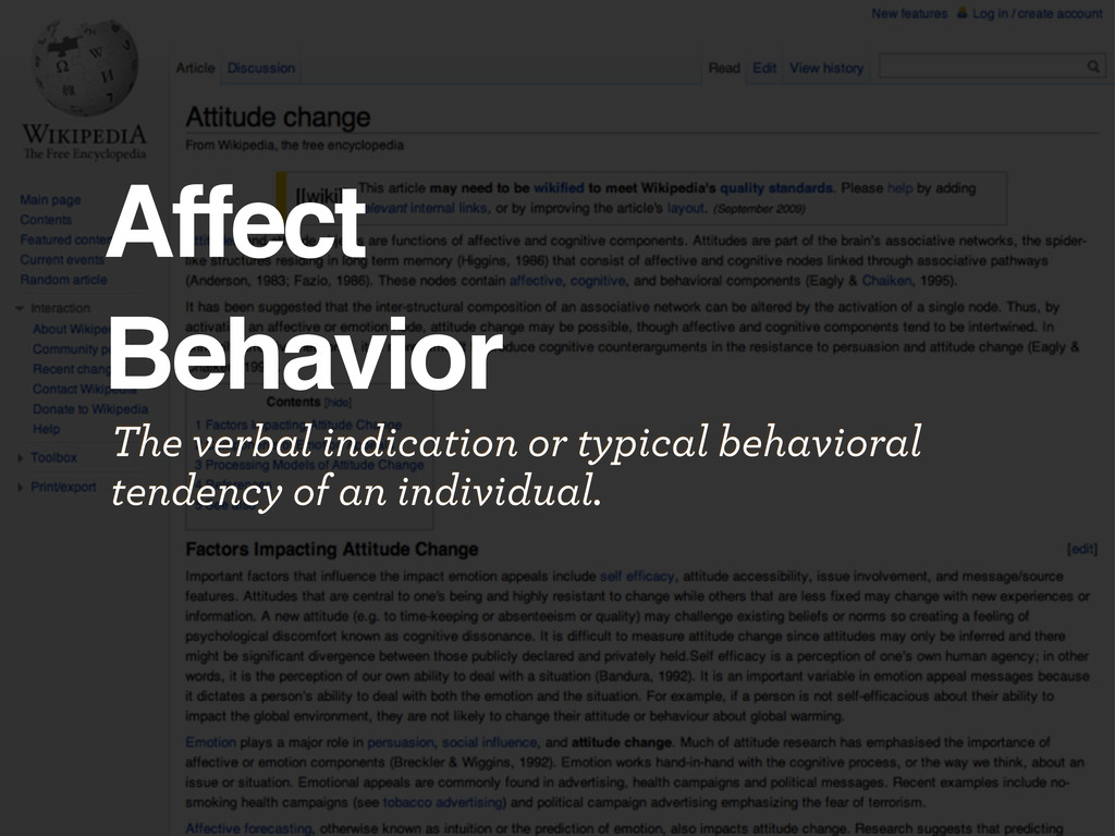 Affect Behavior The verbal indication or typica...