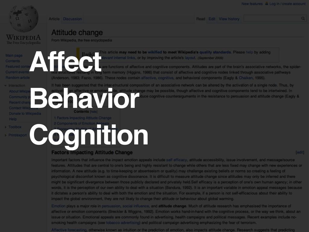 Affect Behavior Cognition