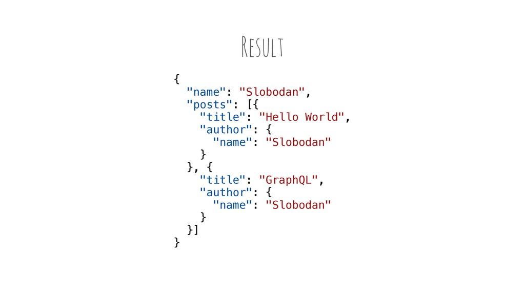 """Result { """"name"""": """"Slobodan"""", """"posts"""": [{ """"title..."""