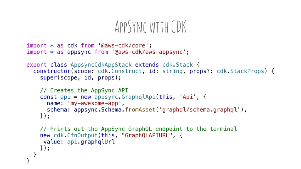 AppSync with CDK import * as cdk from '@aws-cdk...