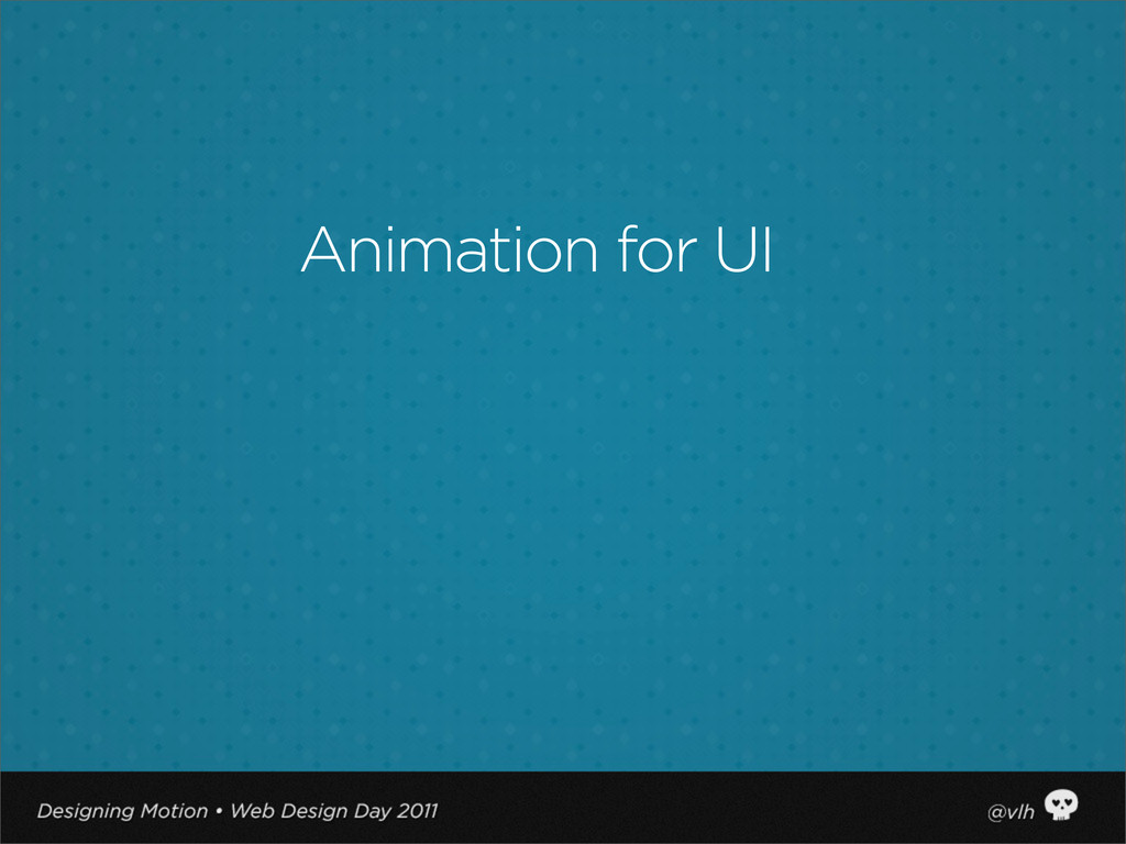 Animation for UI