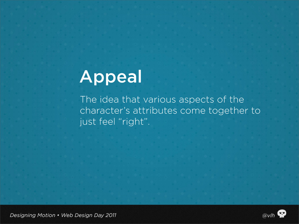 The idea that various aspects of the character'...