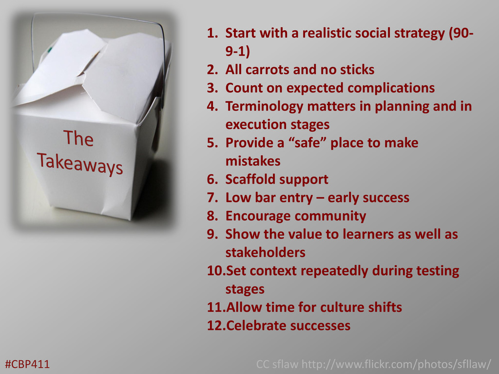 1. Start with a realistic social strategy (90- ...