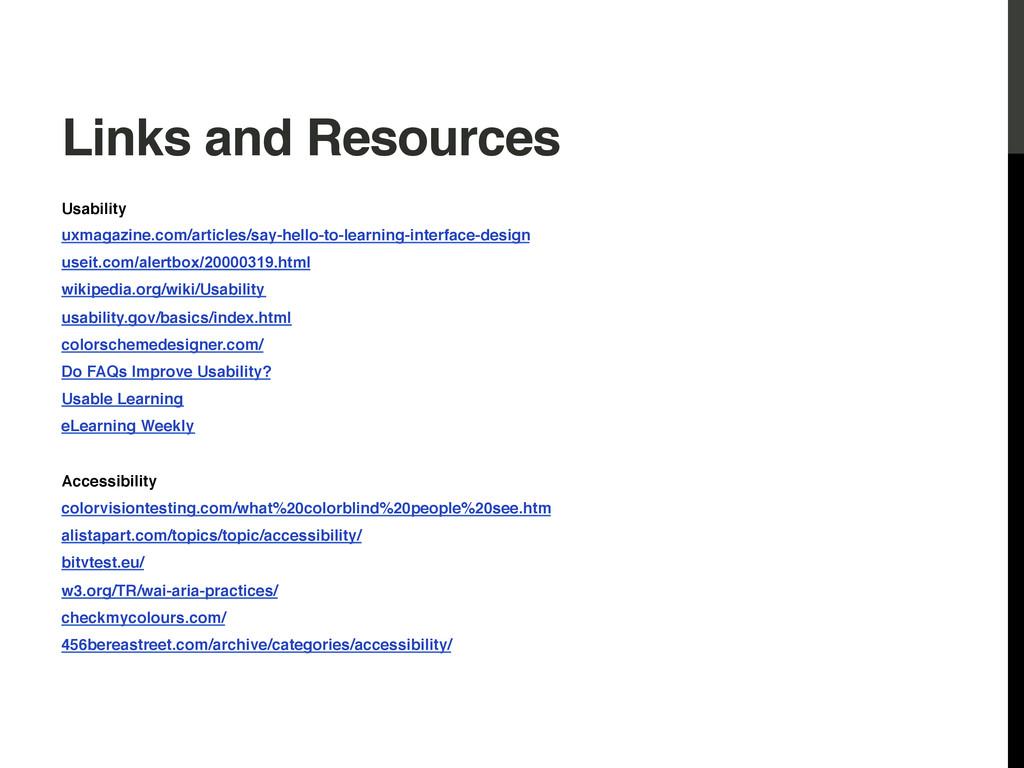 Links and Resources! Usability! uxmagazine.com/...