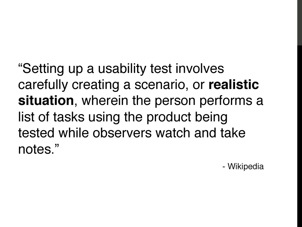 """How To Test """"Setting up a usability test involv..."""