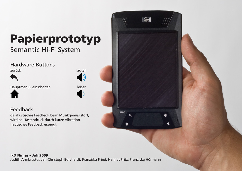 Papierprototyp Semantic Hi-Fi System Hardware-B...