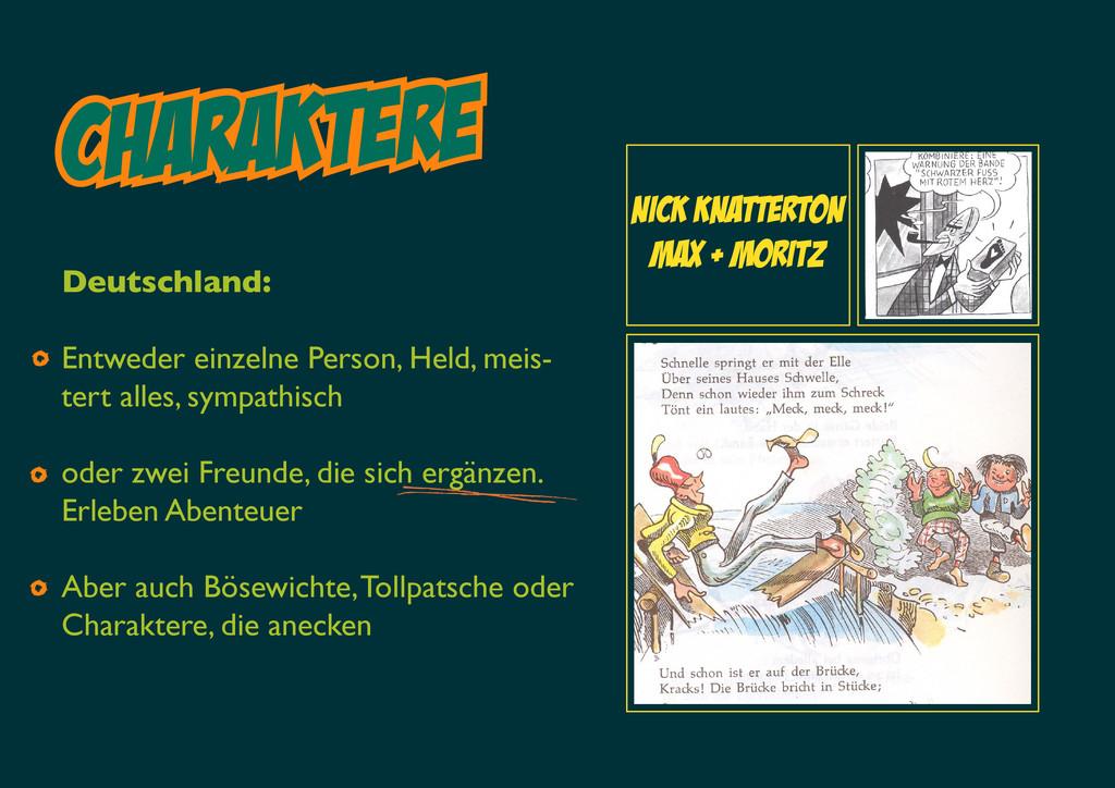 Charaktere Deutschland: Entweder einzelne Perso...