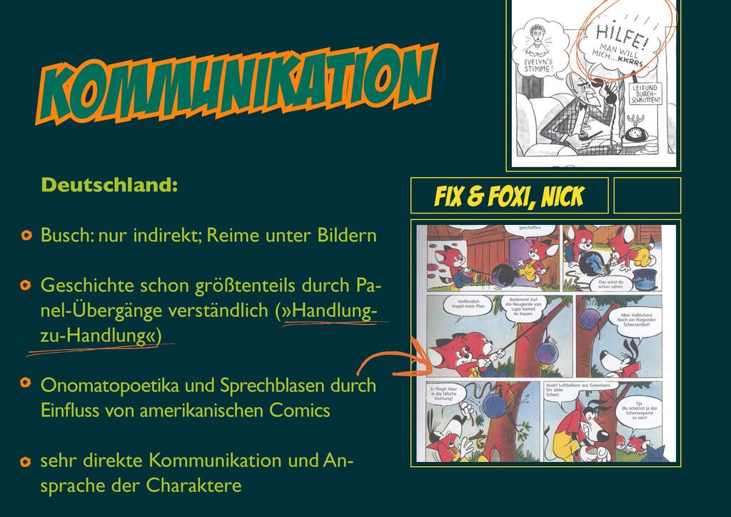 Kommunikation Fix & Foxi, Nick Deutschland: Bus...