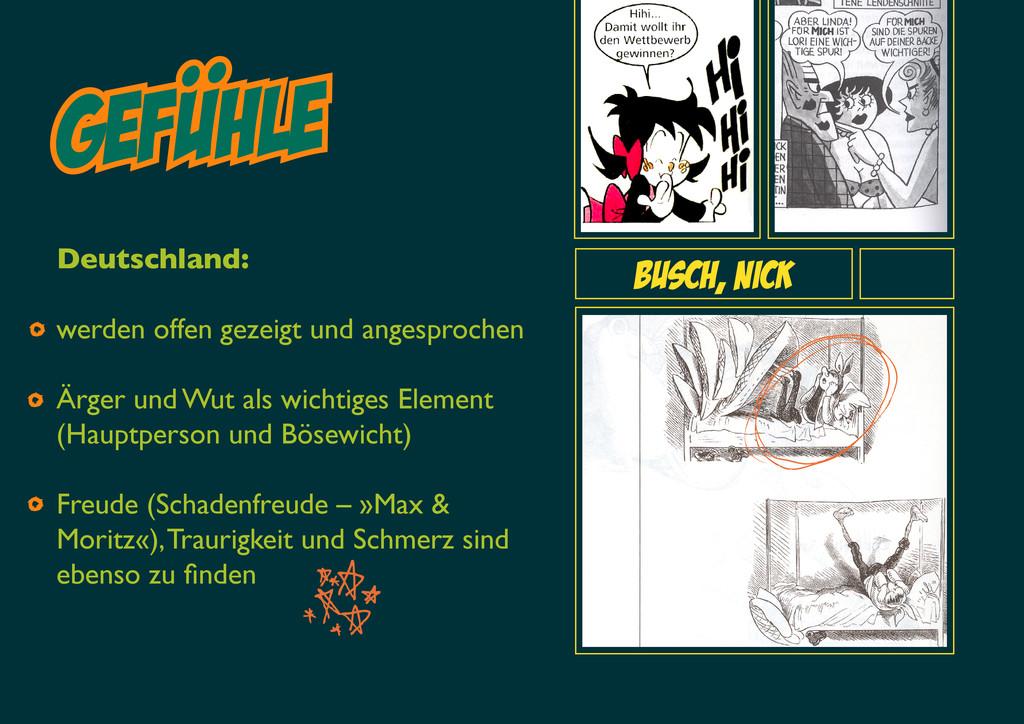 gefuhle Busch, Nick Deutschland: werden offen g...