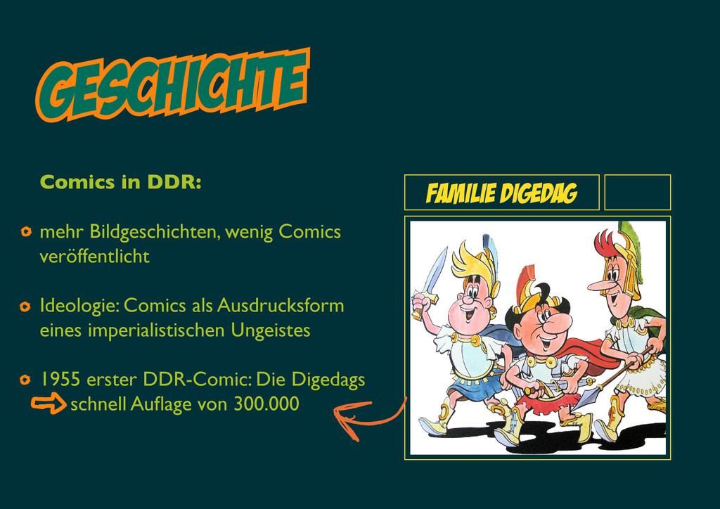 Geschichte familie digedag Comics in DDR: mehr ...