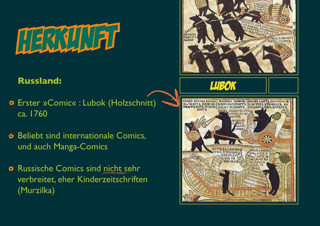 HERKUNft Lubok Russland: Erster »Comic« : Lubok...