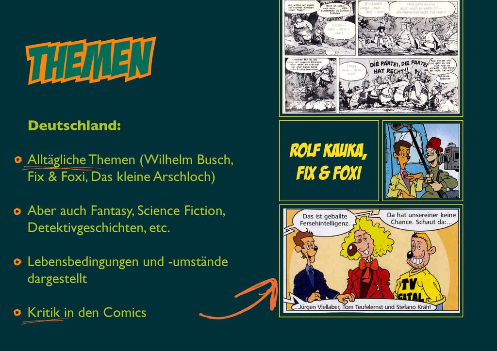 Themen Rolf Kauka, Fix & foxi Deutschland: Allt...
