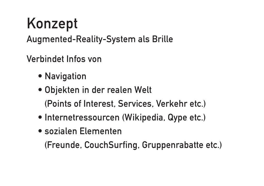 Konzept Augmented-Reality-System als Brille Ver...