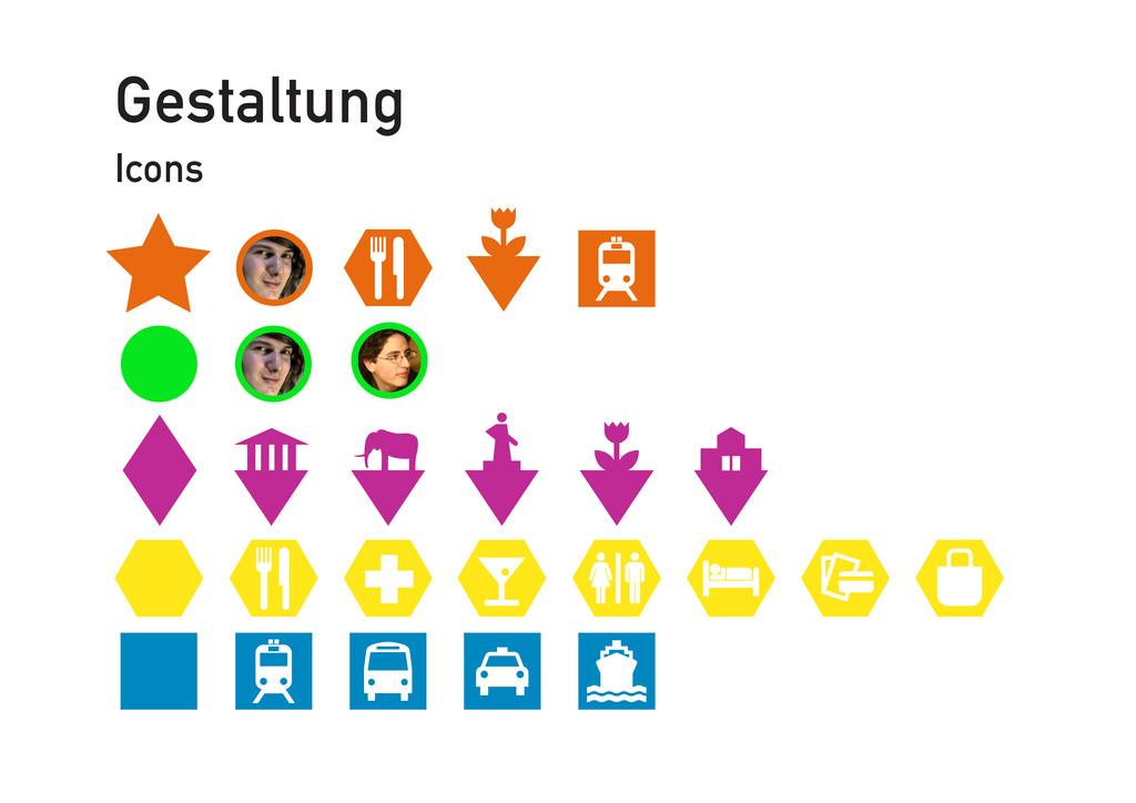 Gestaltung Icons