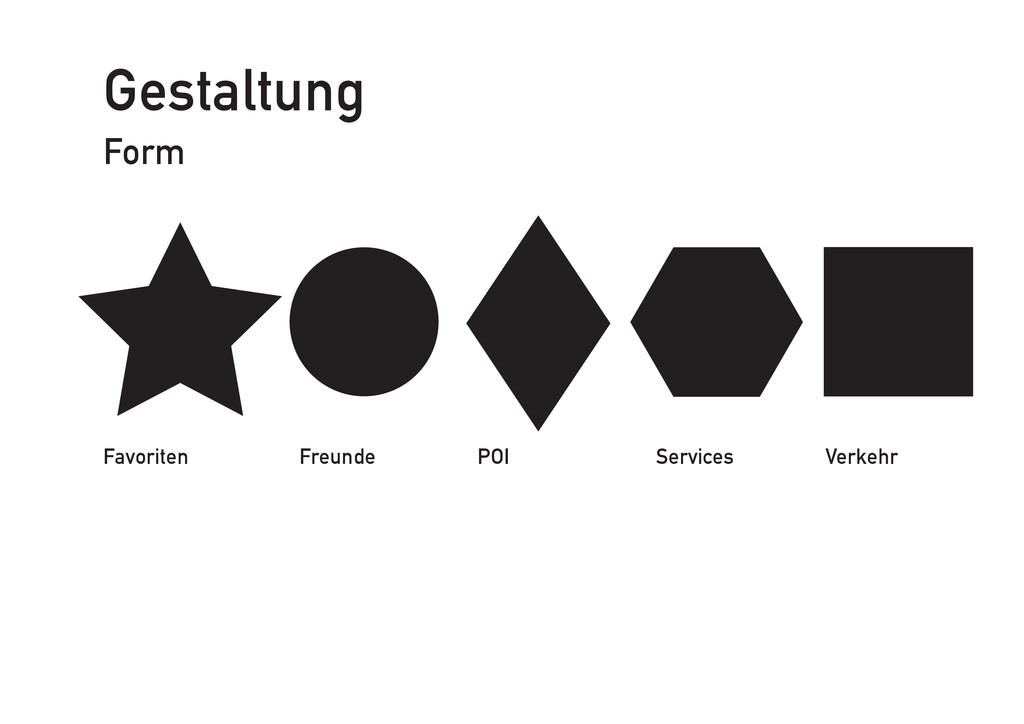 Gestaltung Form Favoriten Freunde POI Services ...