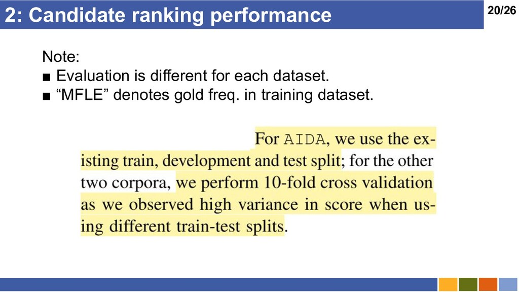 20/26 2: Candidate ranking performance Note: ■ ...