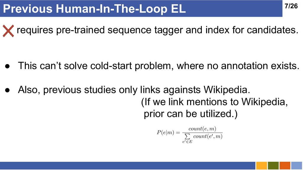 7/26 Previous Human-In-The-Loop EL requires pre...