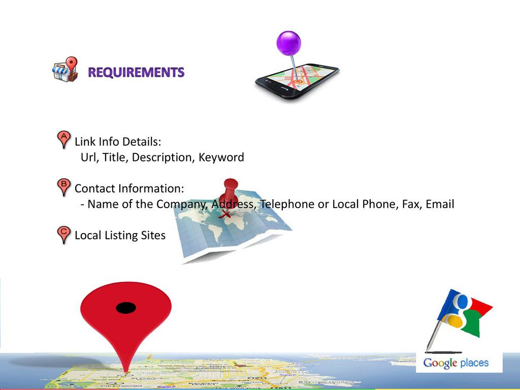 Link Info Details: Url, Title, Description, Key...