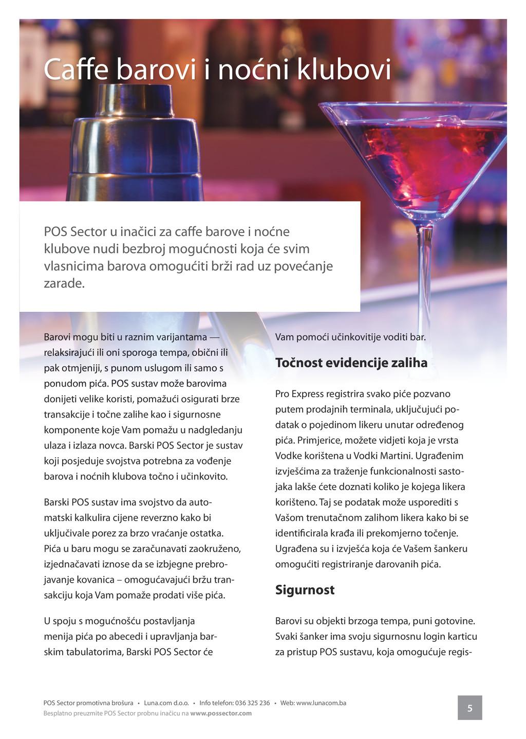 5 POS Sector promotivna brošura • Luna.com d.o....