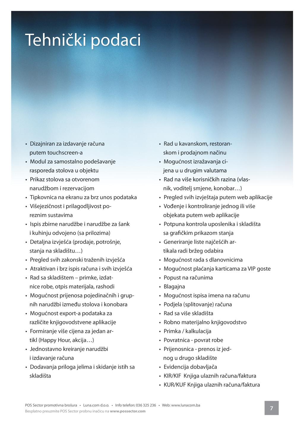 7 POS Sector promotivna brošura • Luna.com d.o....