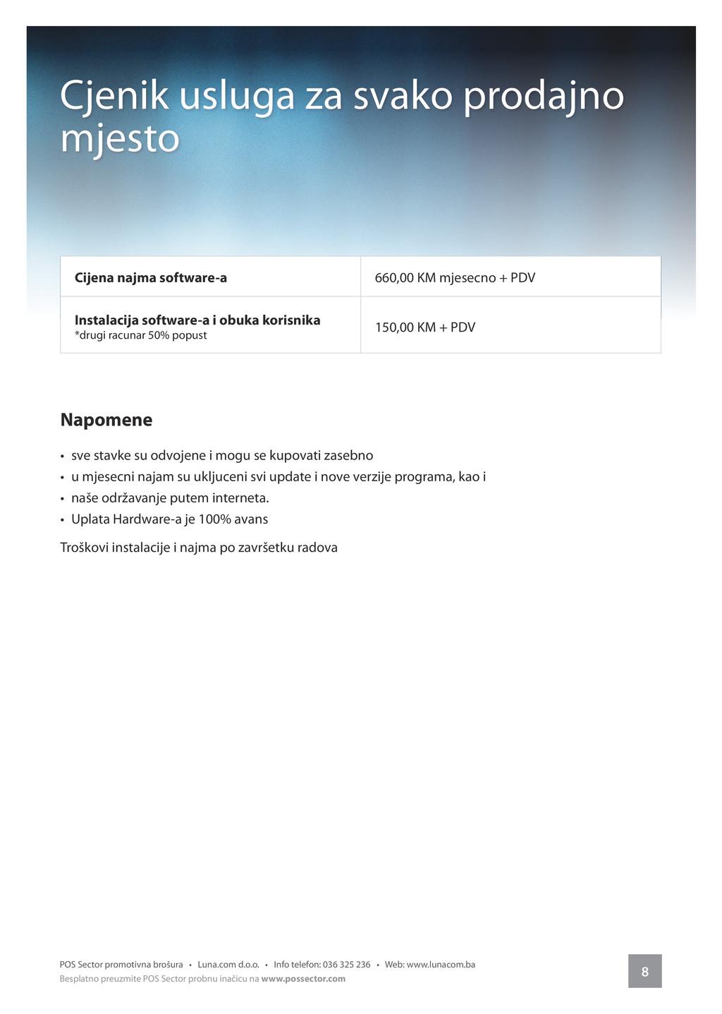 8 POS Sector promotivna brošura • Luna.com d.o....