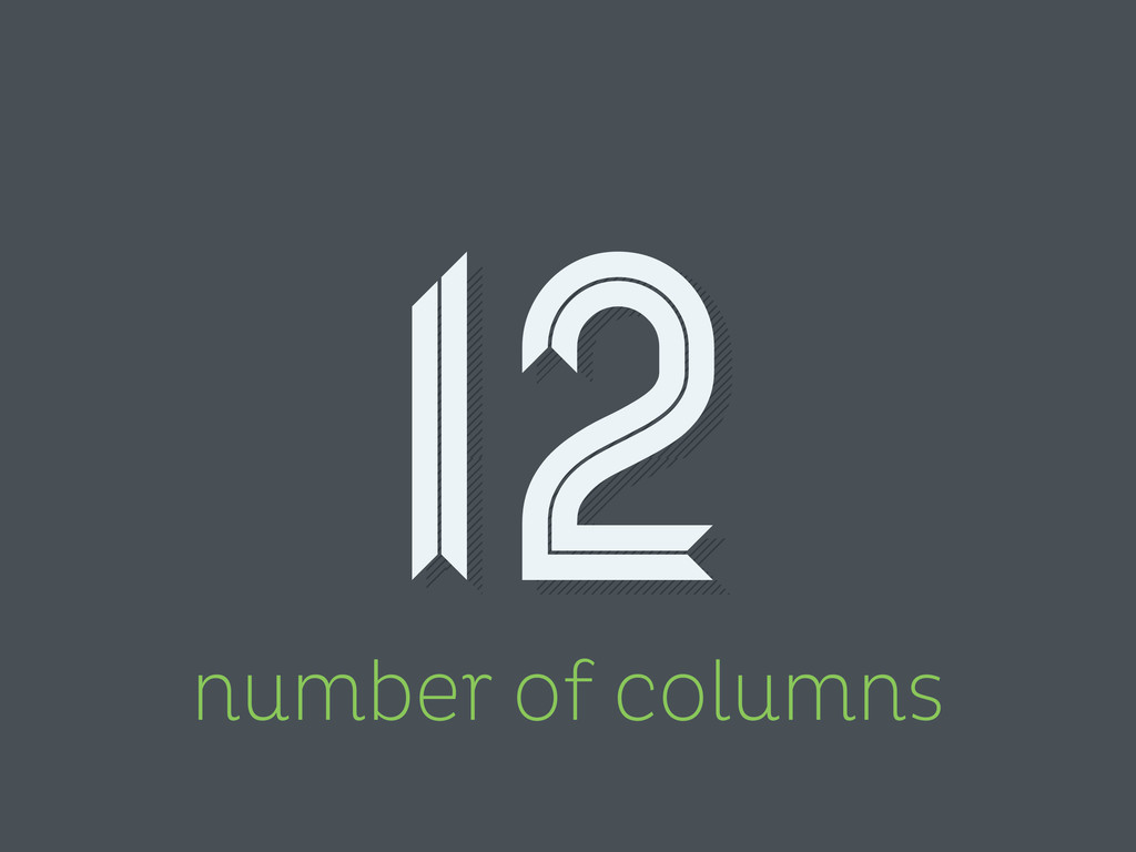 number of columns 12