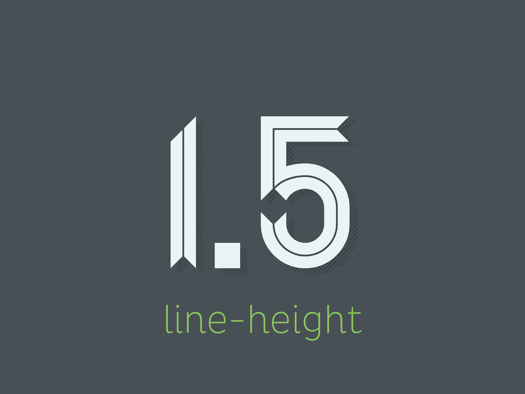 line-height 1.5