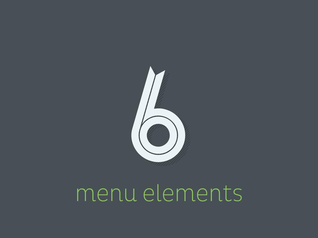 menu elements 6