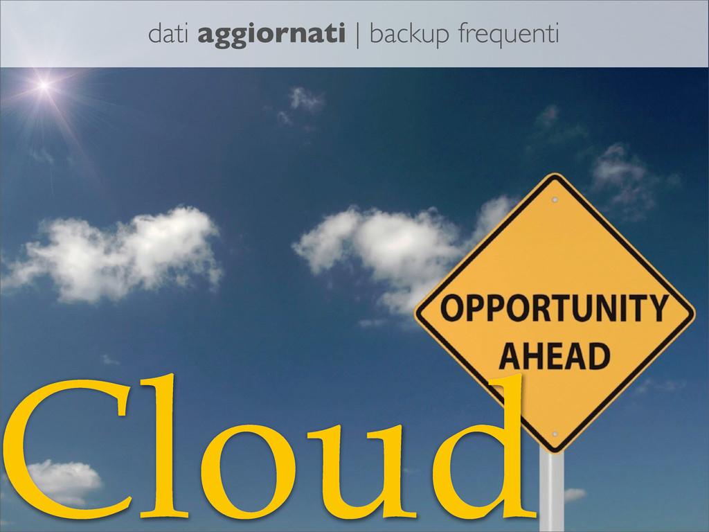 Cloud dati aggiornati | backup frequenti
