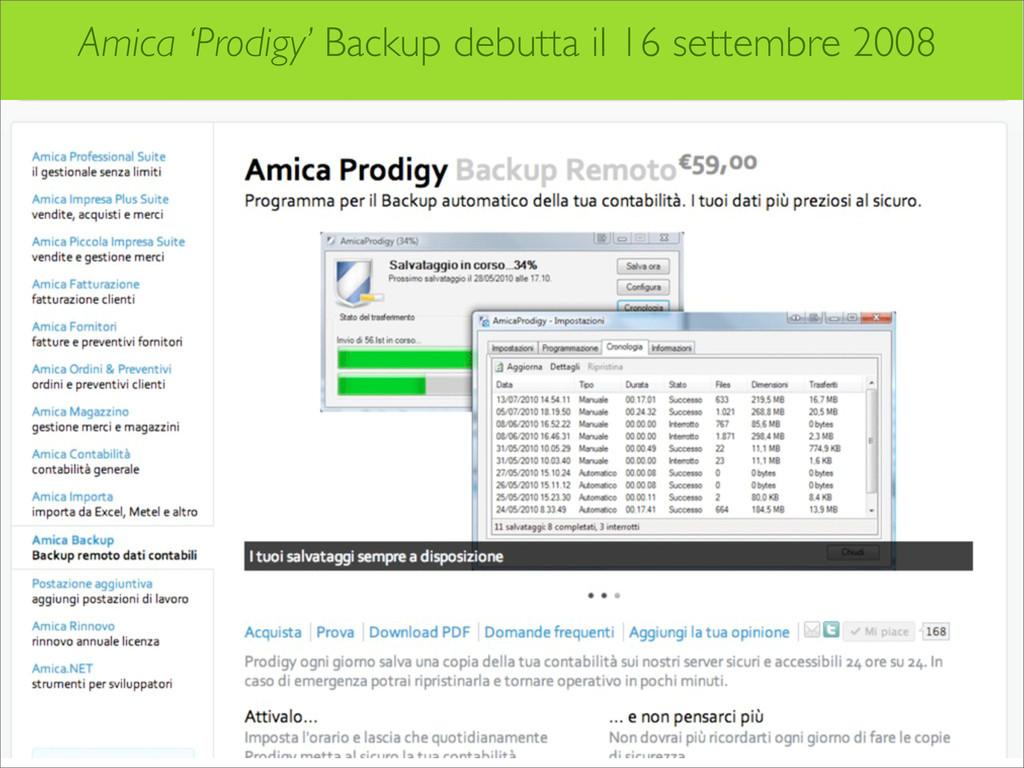 Amica 'Prodigy' Backup debutta il 16 settembre ...