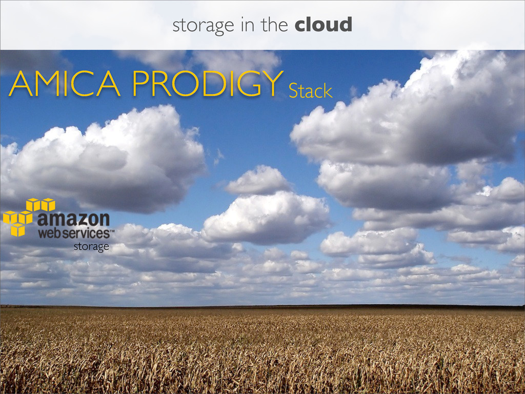 AMICA PRODIGYStack storage storage in the cloud