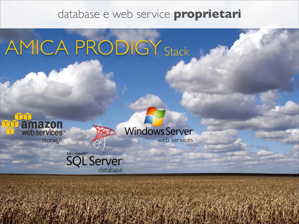 AMICA PRODIGYStack storage database web service...