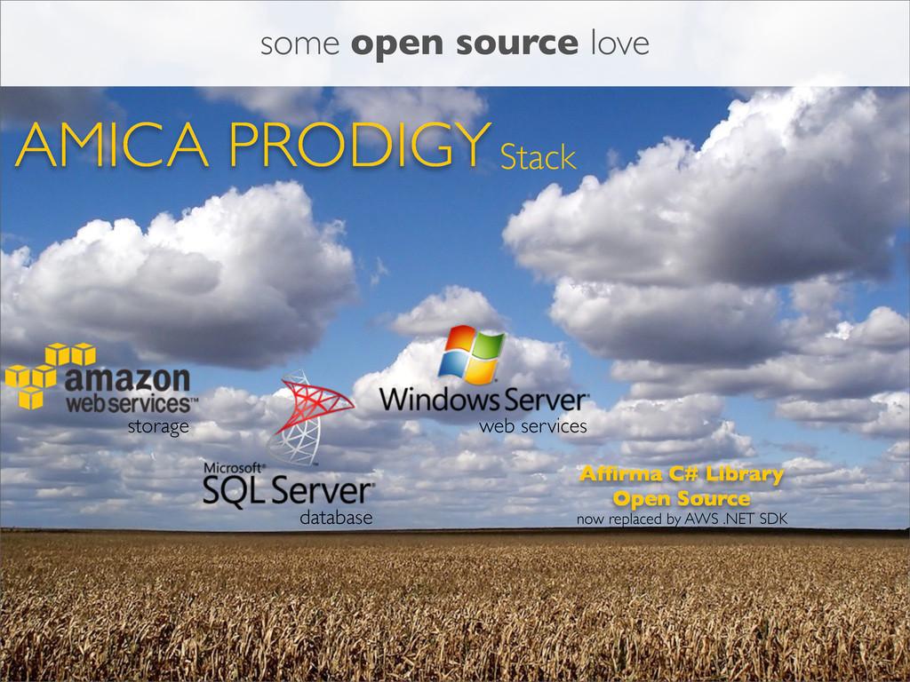 AMICA PRODIGYStack storage database Affirma C# L...