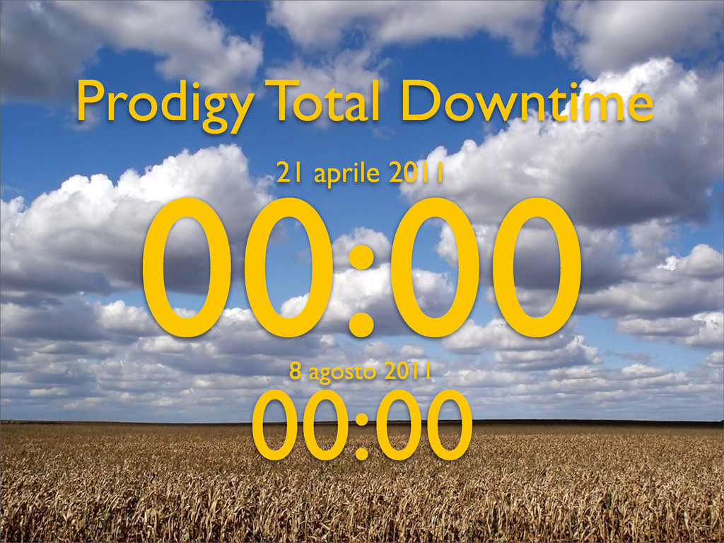 Prodigy Total Downtime 00:00 21 aprile 2011 00:...