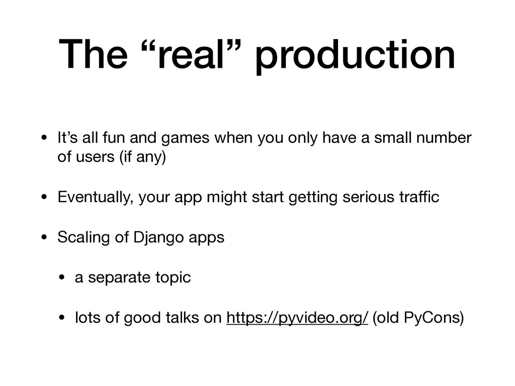 "The ""real"" production • It's all fun and games ..."