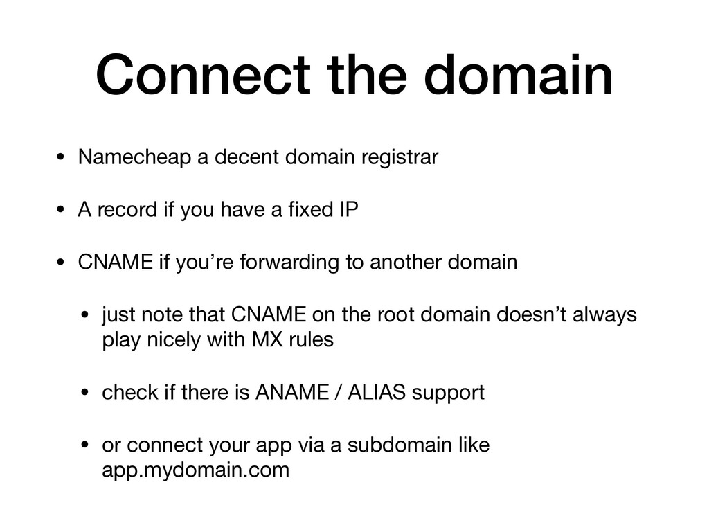 Connect the domain • Namecheap a decent domain ...