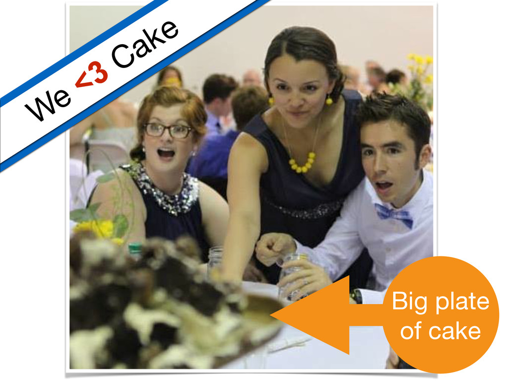 We <3 Cake Big plate  of cake