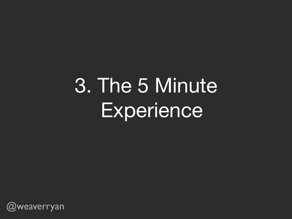 @weaverryan 3. The 5 Minute   Experience