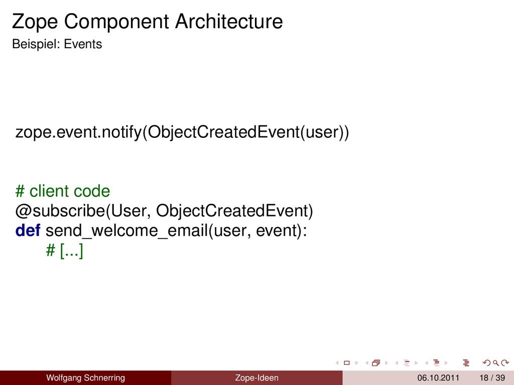 Zope Component Architecture Beispiel: Events zo...