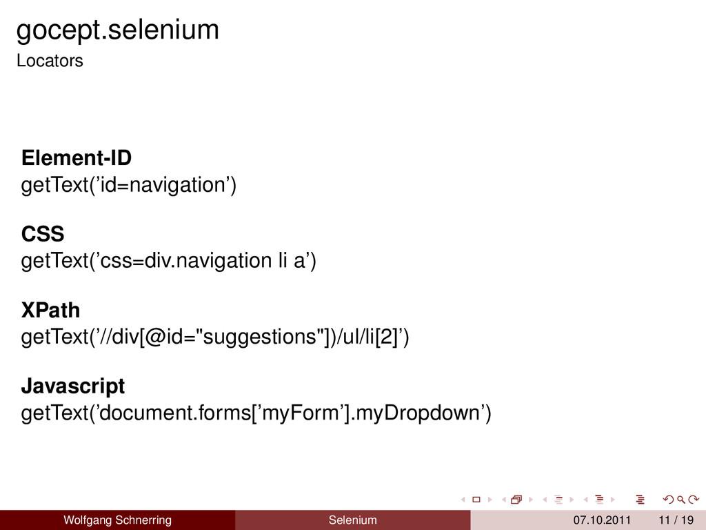 gocept.selenium Locators Element-ID getText('id...