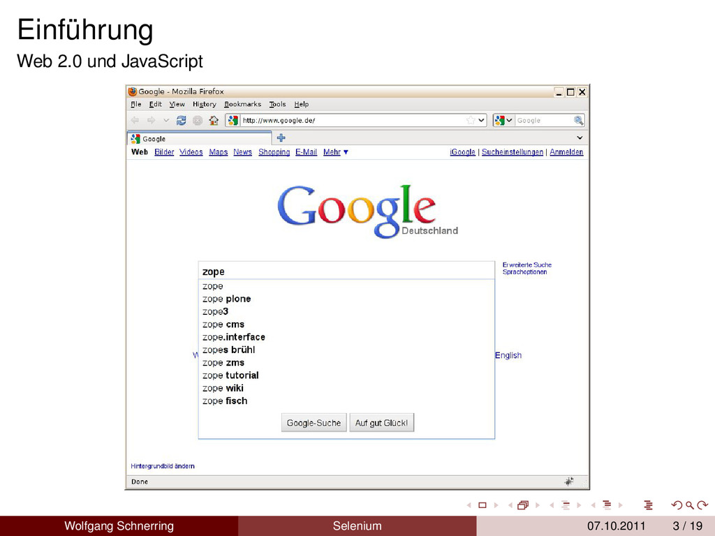 Einführung Web 2.0 und JavaScript Wolfgang Schn...