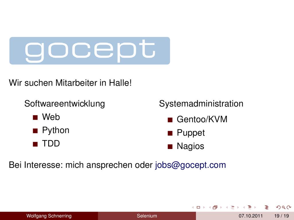 Wir suchen Mitarbeiter in Halle! Softwareentwic...