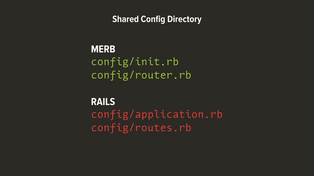 MERB config/init.rb config/router.rb RAILS conf...