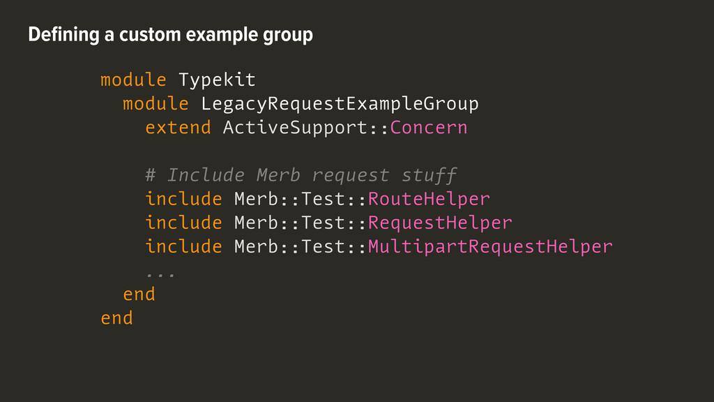 module Typekit module LegacyRequestExampleGroup...